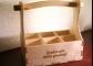 Koka alus kaste 6 pudelēm