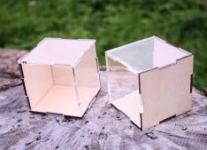 Lāzergrieztas saplākšņa un organiskā stikla kastes