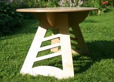 Saliekams koka galds